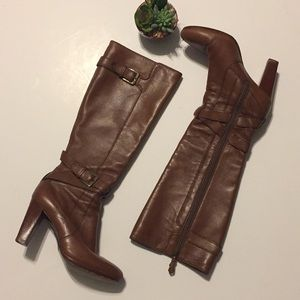 Cole Haan Nike Air brown leather boots sz6.5B